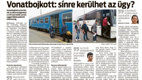 KELET – vonatbojkott és a vasúttársaság reakciója