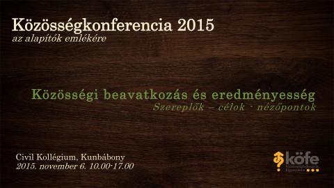 Közösség Konferencia 2015