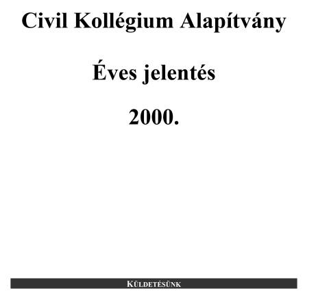 CKA éves jelentés 2000.