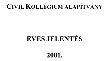 CKA éves jelentés 2001.