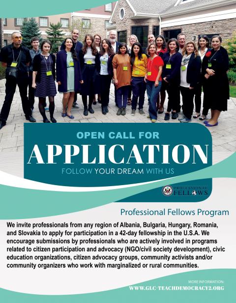 Pályázat! Amerikai-európai tapasztalatcsere és képzési program. 2018-első kör