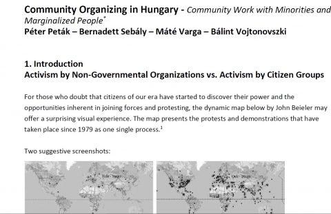 Peták, Sebály, Varga, Vojtononvszki – Community Organizing in Hungary